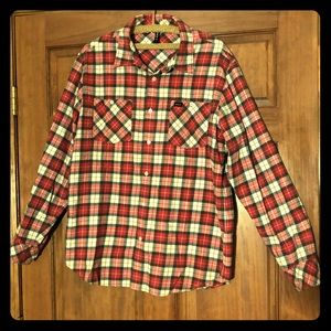 Men's red plaid flannel. RVCA